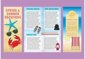 Vacanze modello di brochure vettori