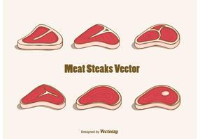 Vettore di bistecche di carne