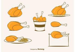 Set di pollo vettoriale