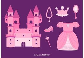 set vettoriale principessa