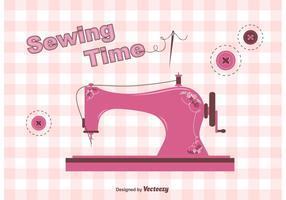 Vettore di macchina da cucire d'epoca gratis