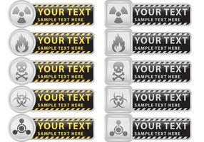 Bandiere di vettore di prevenzione e attenzione
