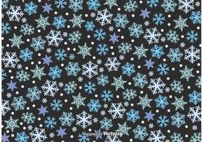 Trama di nevicate invernali vettore