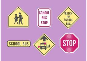 Insieme del contrassegno dello scuolabus