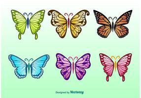 Illustrazioni di farfalle di primavera vettore