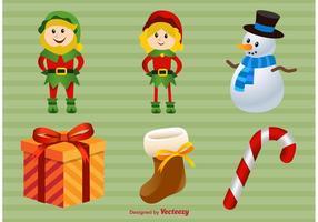 Illustrazioni di Natale felice vettore