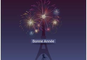 Fuochi d'artificio vettoriali gratis Bonne Année