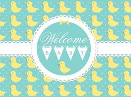 vettore di benvenuto baby card