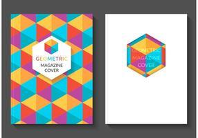 Copertine di vettore di rivista geometrica variopinta