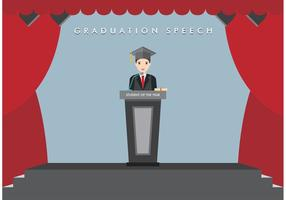 Vettore di discorso di graduazione libero