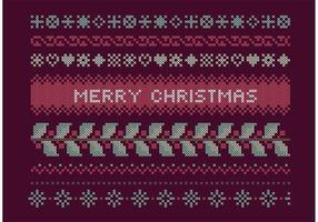 Set di Natale a punto croce