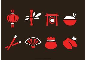 Icone vettoriali cinese