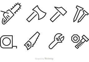 Strumenti di contruction icone vettoriali di riparazione