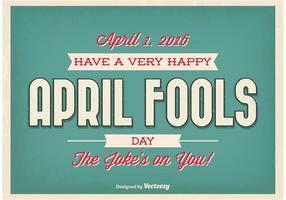 Poster tipografico di April Fools Day