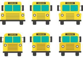 Vettori di scuolabus vista frontale