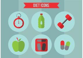Set di icone vettoriali dieta