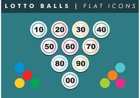 Il vettore piano delle icone di numeri di palle del lotto libera