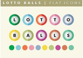 Vettore piano delle icone delle palle del lotto libero