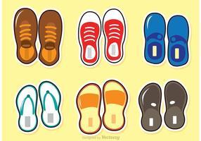Vettore delle scarpe e dei sandali