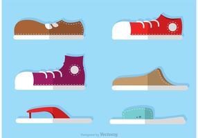 Icone delle calzature delle scarpe degli uomini di vettore