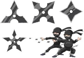 Vettori di stelle ninja