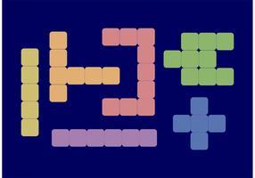 Piastrelle di vettore di Scrabble