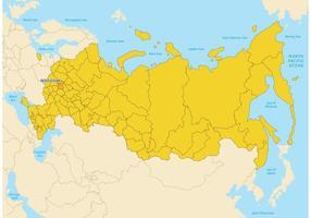 Russia Mappa vettoriale