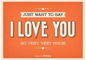 Poster tipografico d'amore vintage