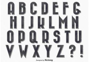 Alfabeto stile vintage