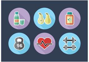 Icone di dieta vettoriali gratis