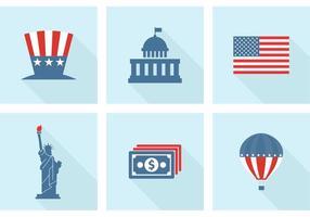 Icone vettoriali gratis USA