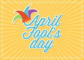 carta di giorno di pesci d'aprile vettoriale