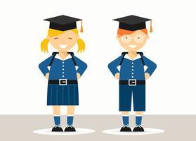 Bambini della scuola gratis nel vettore uniforme