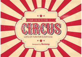 Illustrazione del fondo del circo vettore