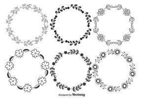 Set di cornici floreali decorative vettore