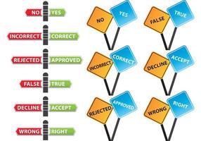 Correggere i segni vettoriali errati