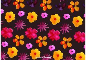Acquerello Primavera e fiori estivi