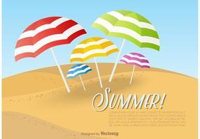 Modello di carta da spiaggia ombrelloni
