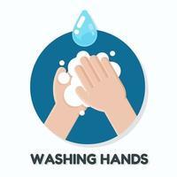 poster per lavarsi le mani con sapone vettore