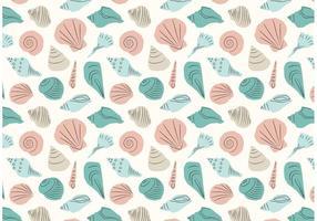Pattern ripetizione Seashell disegnato a mano vettore