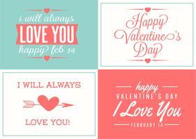 Set di etichette carino amore vettore