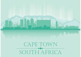 Vettore dell'orizzonte di Cape Town