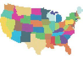 Vettore della mappa punteggiata degli Stati Uniti