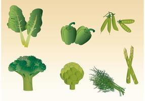 Vettori di verdure verdi