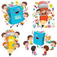 concetto di educazione con bambini divertenti