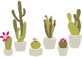 Cactus in vaso disegnato a mano vettore