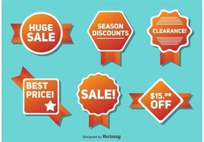 Distintivi di vendita e sconto stagionali vettore
