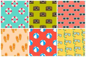 Beach Summer Colorful Patterns vettore