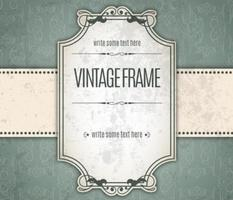 cornice di invito vintage