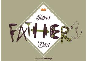 carta di giorno di padri felice vettore
